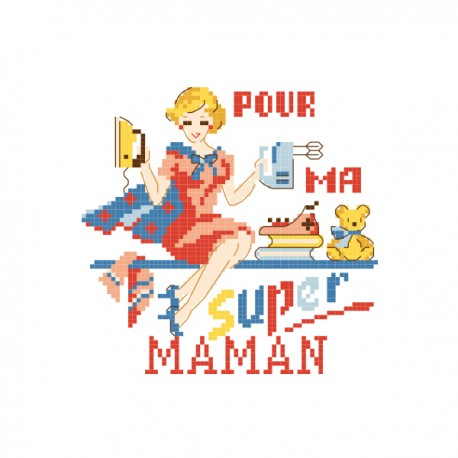 Grille « Super maman »