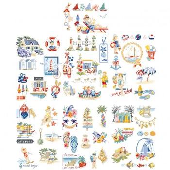 La grande histoire des bords de mer : 50 motifs