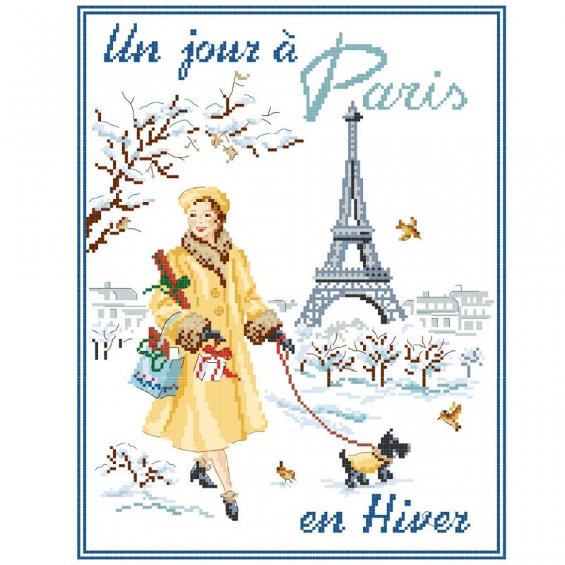 Grille « Un jour à Paris en Hiver »