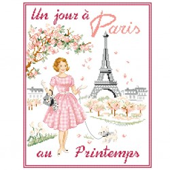 Grille « Un jour à Paris au printemps »