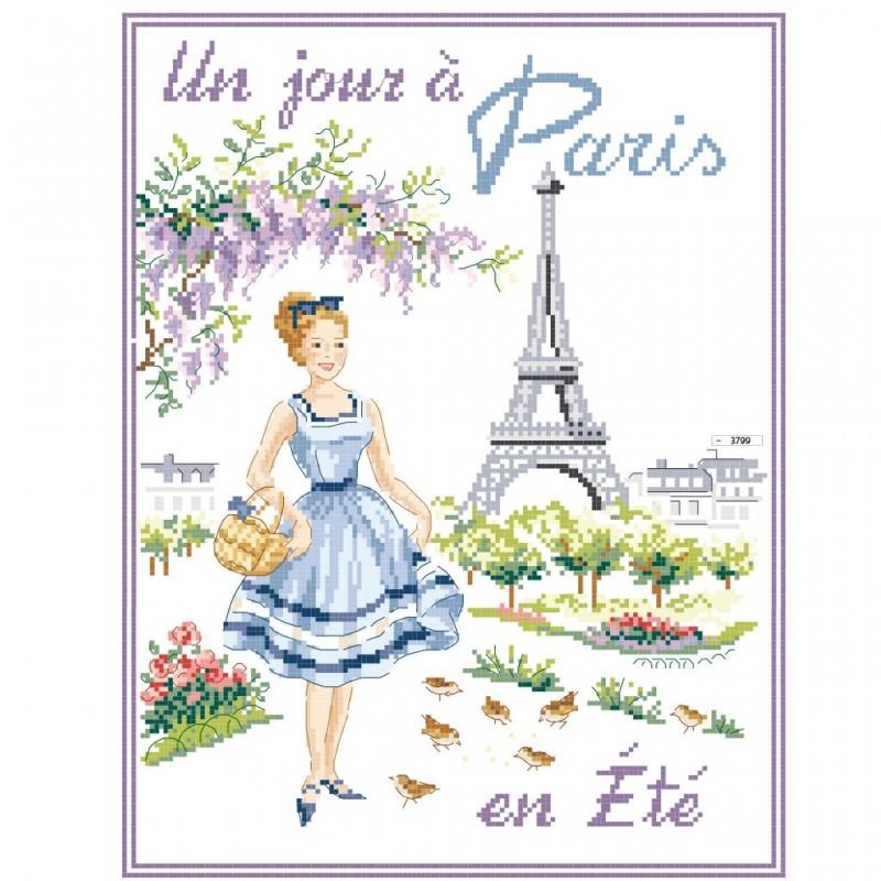 Grille « Un jour à Paris en été »