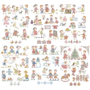 La grande histoire des enfants : 50 grilles