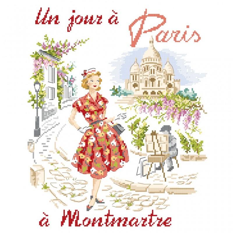 Grille «Un jour à Paris à Montmartre»