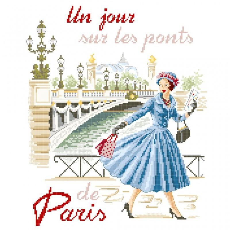 Grille «Un jour à Paris sur le pont Alexandre III»