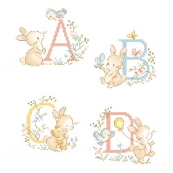 Le grand ABC «Bunny rabbit » Alphabet Chart