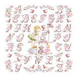 The little « Lily Rose » Alphabet chart