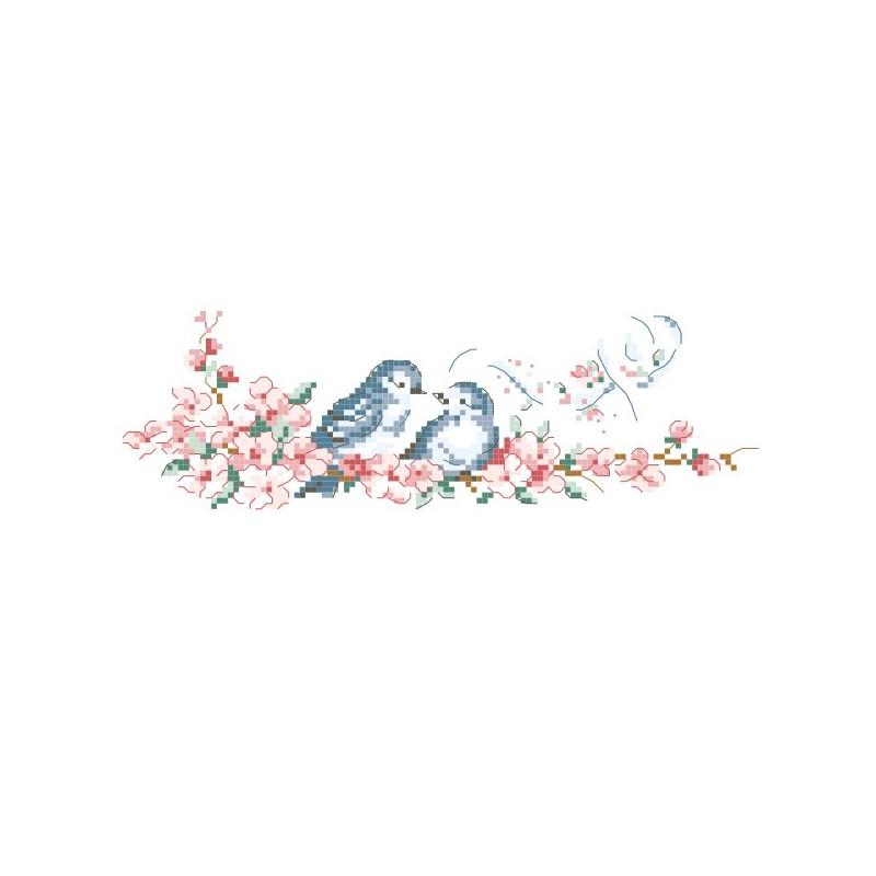 Grille « Duo d'oiseaux »