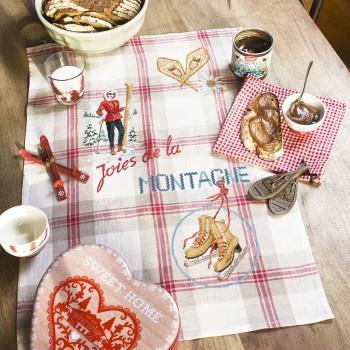 Linen «Mountain pleasures» Tea Towel