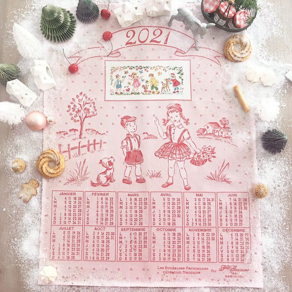 Aïda « 2021 Calendar » Tea towel   Les Brodeuses Parisiennes