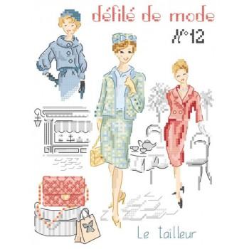 Grille : Défilé de mode N°12  «Le tailleur»