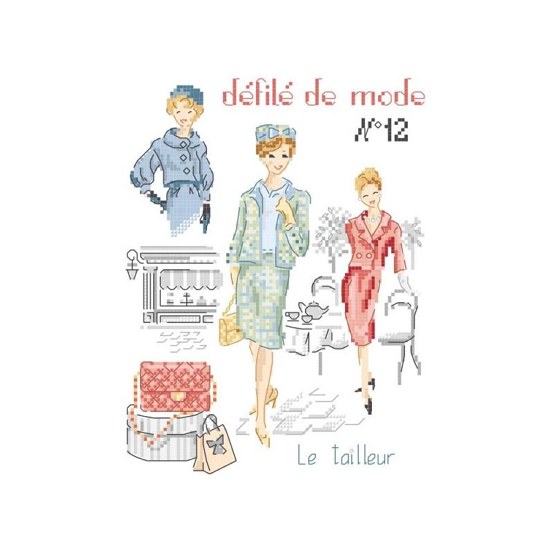 Grille : Défilé de mode N°12  « Le tailleur »