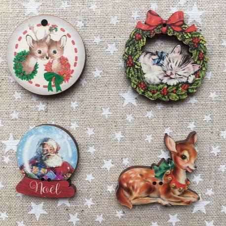 4 buttons « Christmas »