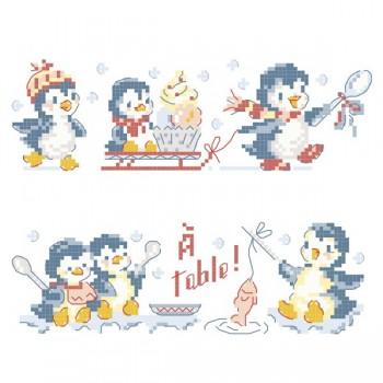 2 grilles «Les pingouins gourmands»