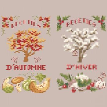 2 grilles Recettes de saisons «Automne-Hiver»