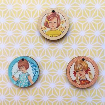 3 boutons « Fillettes »