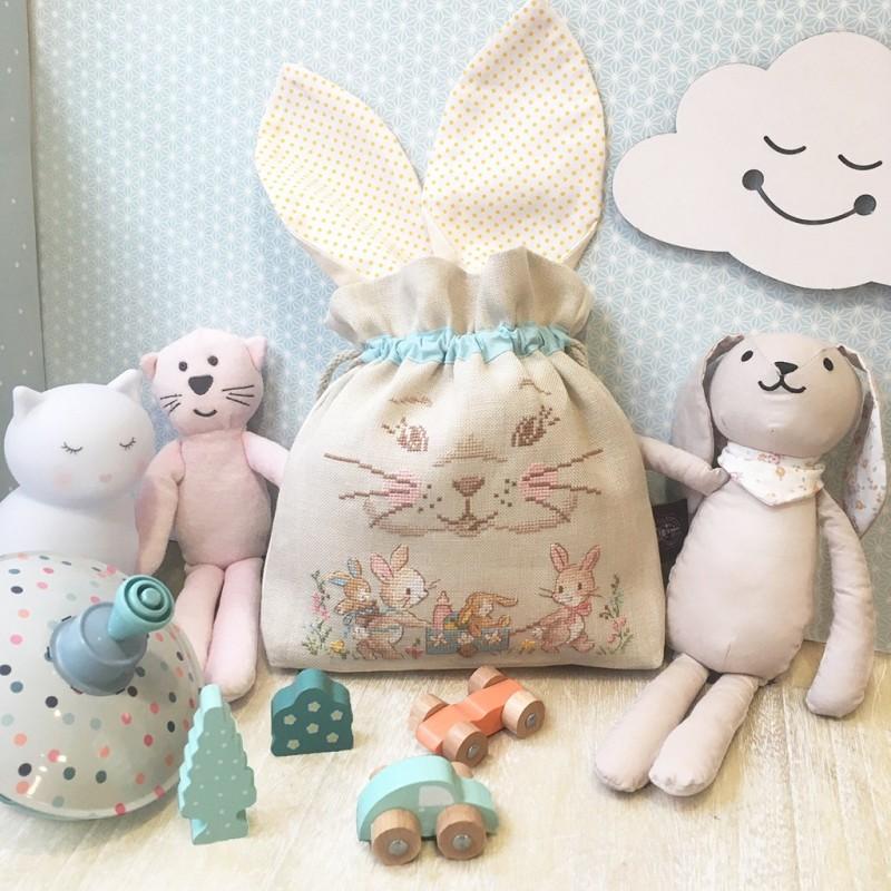 Aïda «Rabbit» Drawstring pouch