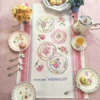 Linen «Niderviller Collection» Tea towel