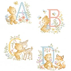 «Teddy bear» Alphabet Chart