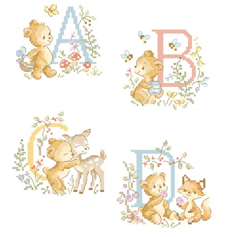 «Teddy bear» Alphabet Chart