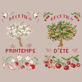2 grilles Recettes de saisons «Printemps-Eté»