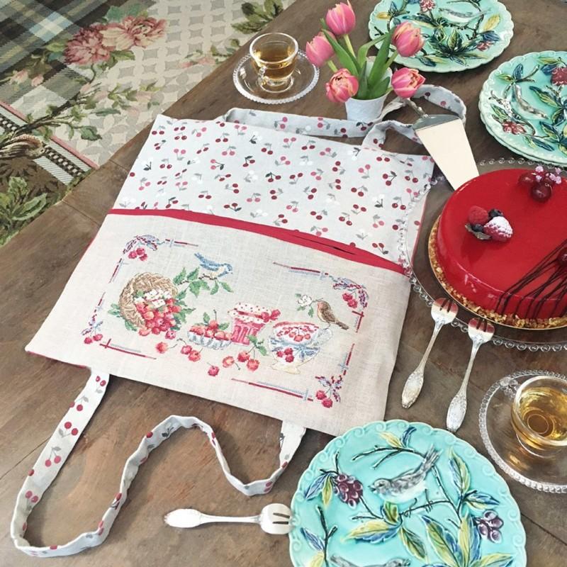 Lin : Porte tarte « Cerises gourmandes »