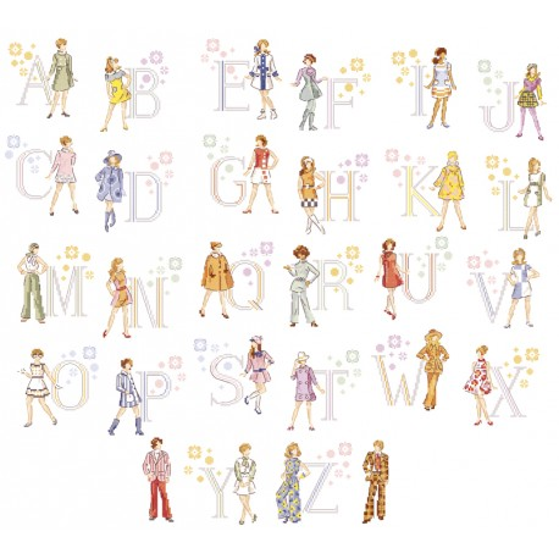 « Seventies » Alphabet Chart