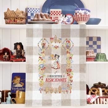 Aïda : Tea towel « Recettes Alsaciennes»