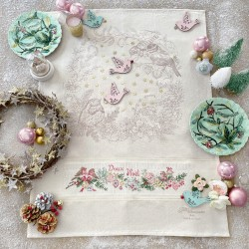 Aïda « Sweet Christmas birdies » Tea towel