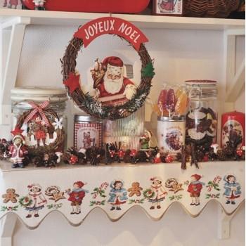 Lin : Bande à broder «Noël» à broder au point de croix