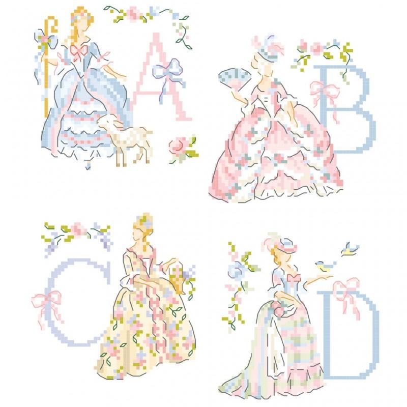 « Marie-Antoinette » Alphabet Chart