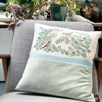 Aïda «Toile de Jouy» Blue Cushion