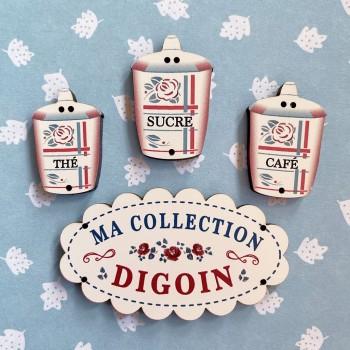 4 buttons « DIGOIN » N°5
