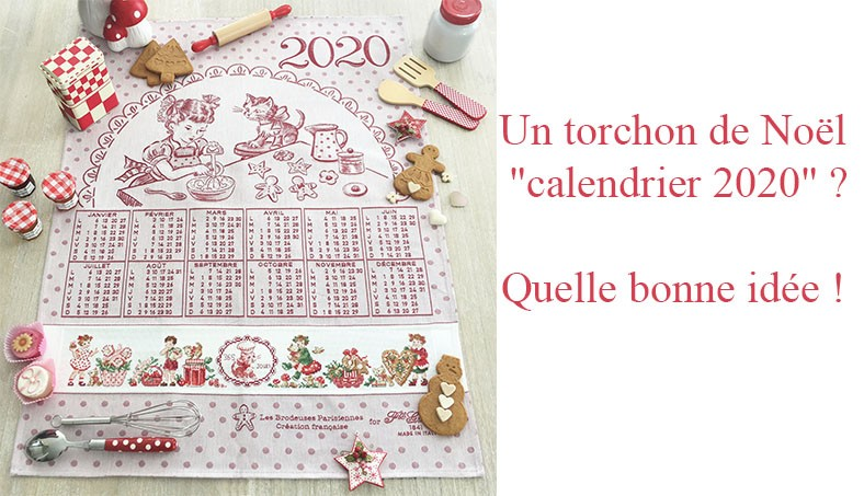 """Calendar 2020"" Tea towel"