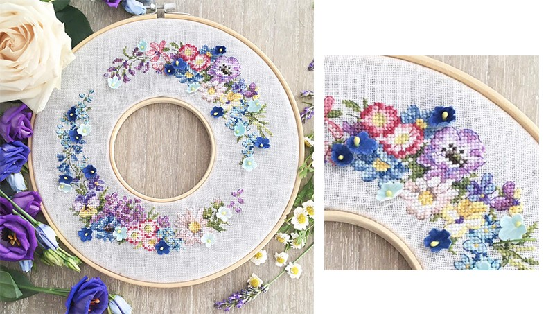Half-kit «Summer wreath»