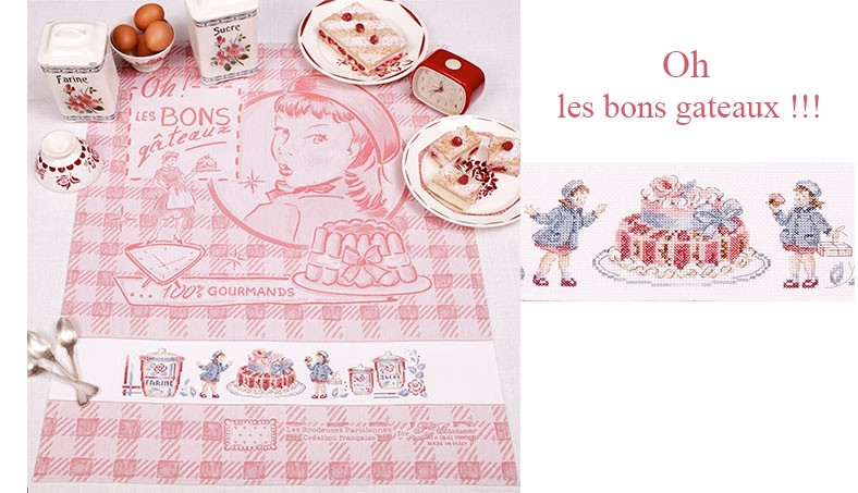 « Delicious cakes » Tea towel