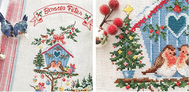 «Little Christmas house» Tea towel