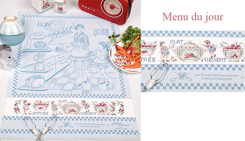 Menu du jour Tea towel