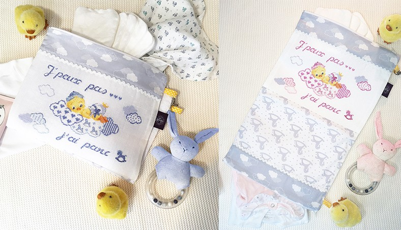 « Ducklings » Double pouch